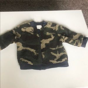 First Impressions camo Sherpa jacket 6-9 months